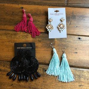 Variety of earrings